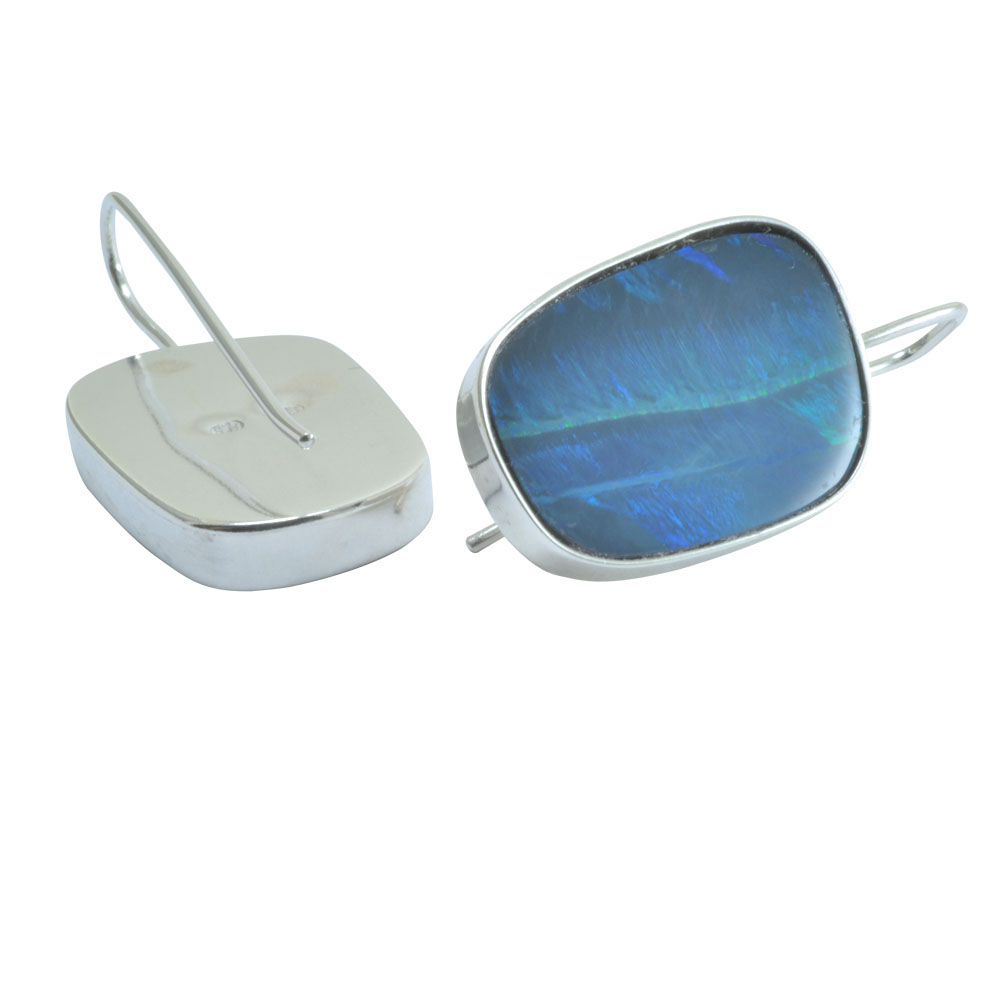 slip in silver earrings boulder opal.jpg
