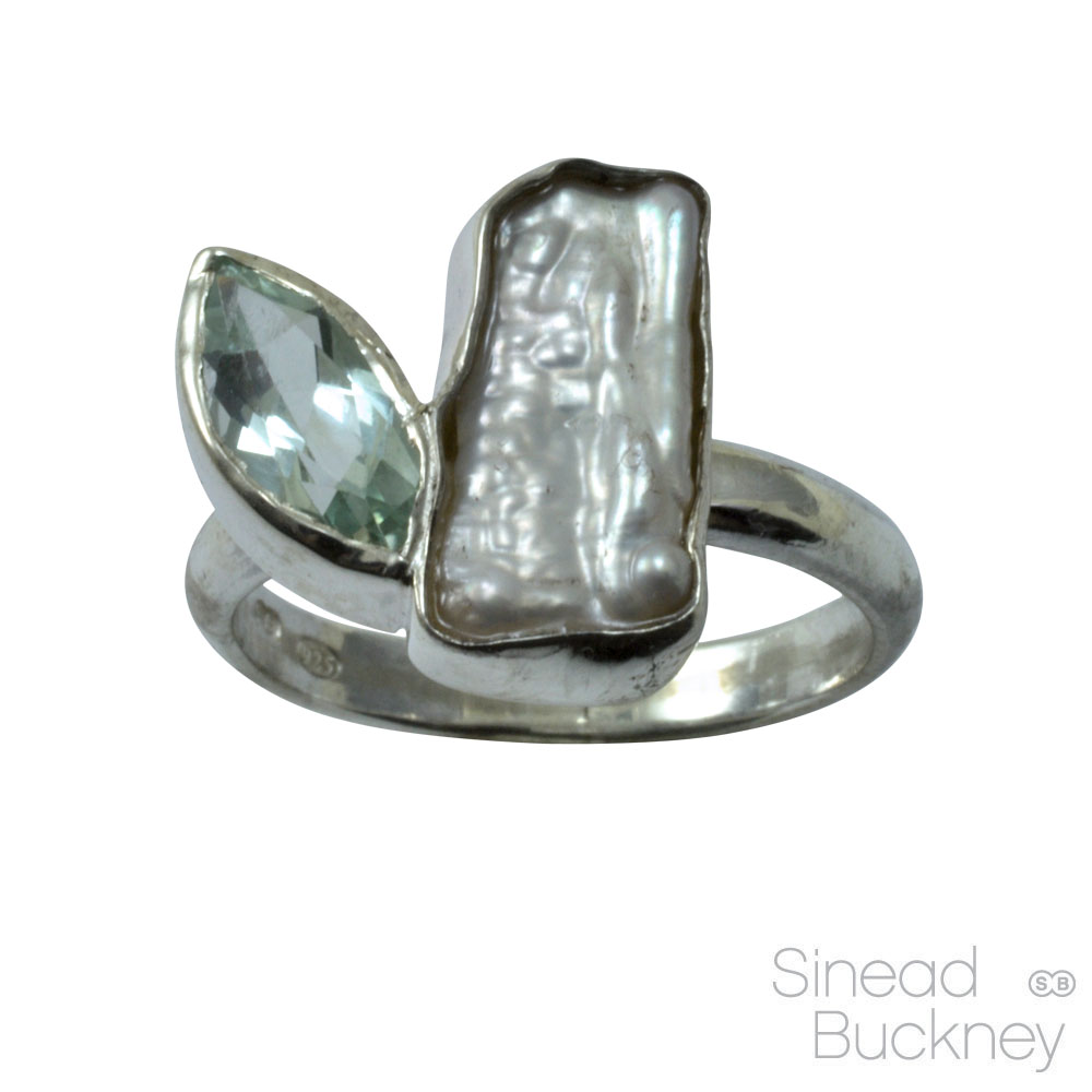 aquamarine marquise and baroque pearl silver ring.jpg