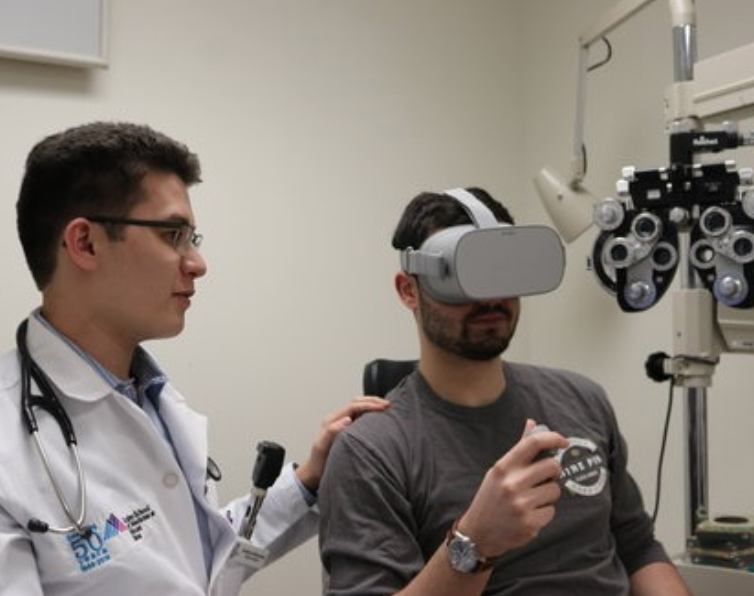 RETINA TECHNOLOGIES - Icahn School of Medicine at Mount SinaiFrom NYC Media Lab CombineTeam Members: Andrew Warburton and Alex SerafiniRetina Technologies seeks to both increase access to visual testing in medical resource-limited settings and improve patient experiences in urban ophthalmologist environments by leveraging the capabilities of virtual reality.