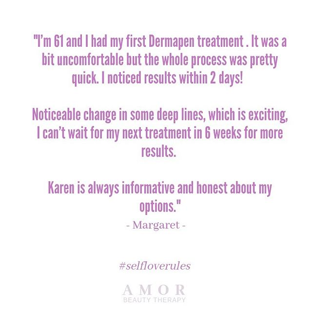 The Dermapen skin rejuvenation treatment gives great results and is perfect for all ages. The Dermapen treatment is similar to laser treatments but without the severe side effects. Available now at Amor so come and chat to Karen to learn more about how it could benefit your skin.  #selfloverules #amorbeautytherapy #dermapentreatment