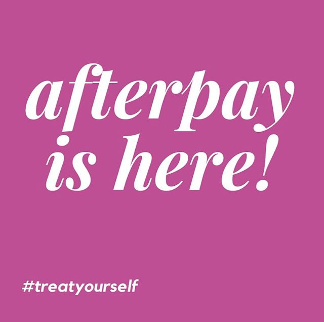 Longing for a treatment or a product but not sure you can afford to pay for it all in one go? Amor Beauty now has Afterpay so go on, treat yourself and pay it off over four easy payments.  #selfloverules #treatyourself #amorbeautytherapy #afterpay