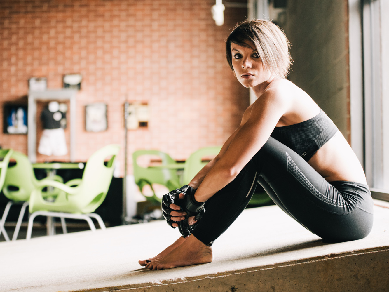 Editorial portrait of female MMA fighter in Atlanta by Jeff Walton Photography