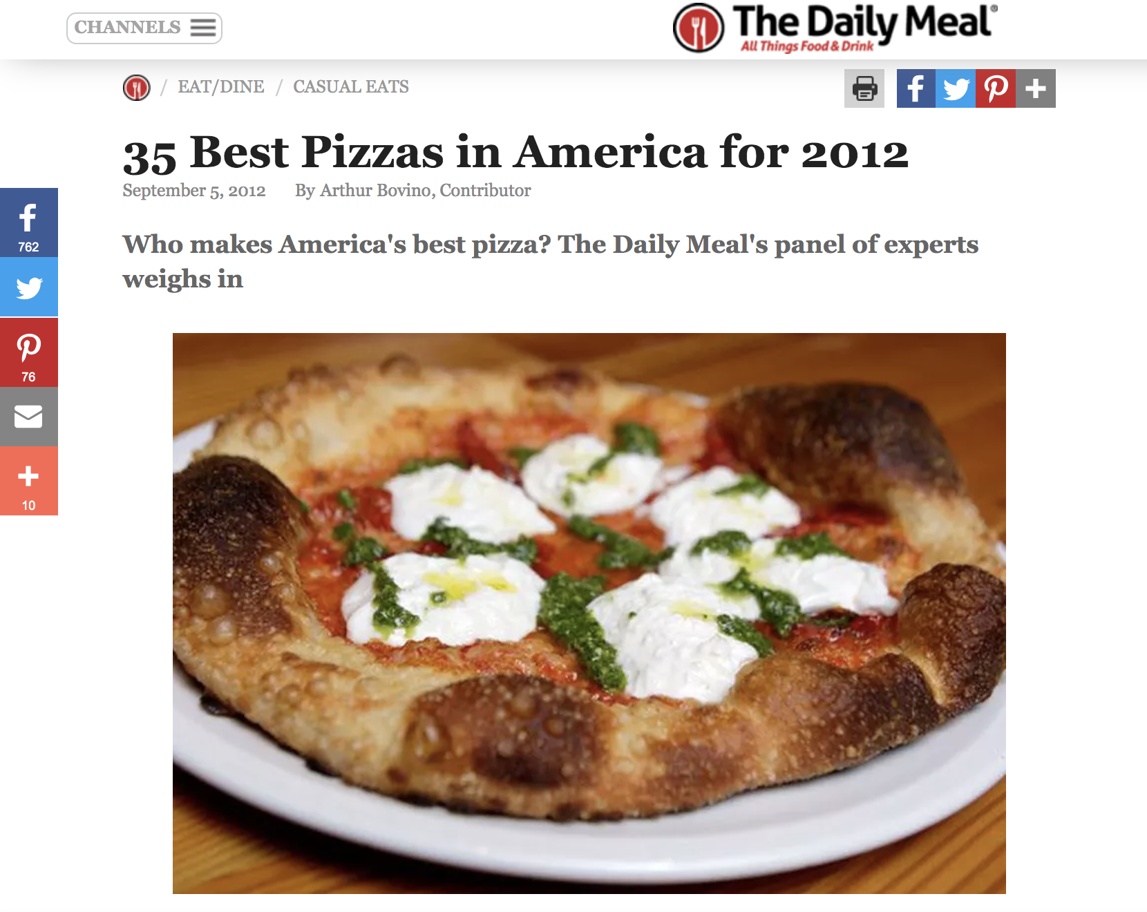Who makes America's best pizza? The Daily Meal's panel of experts weighs in.