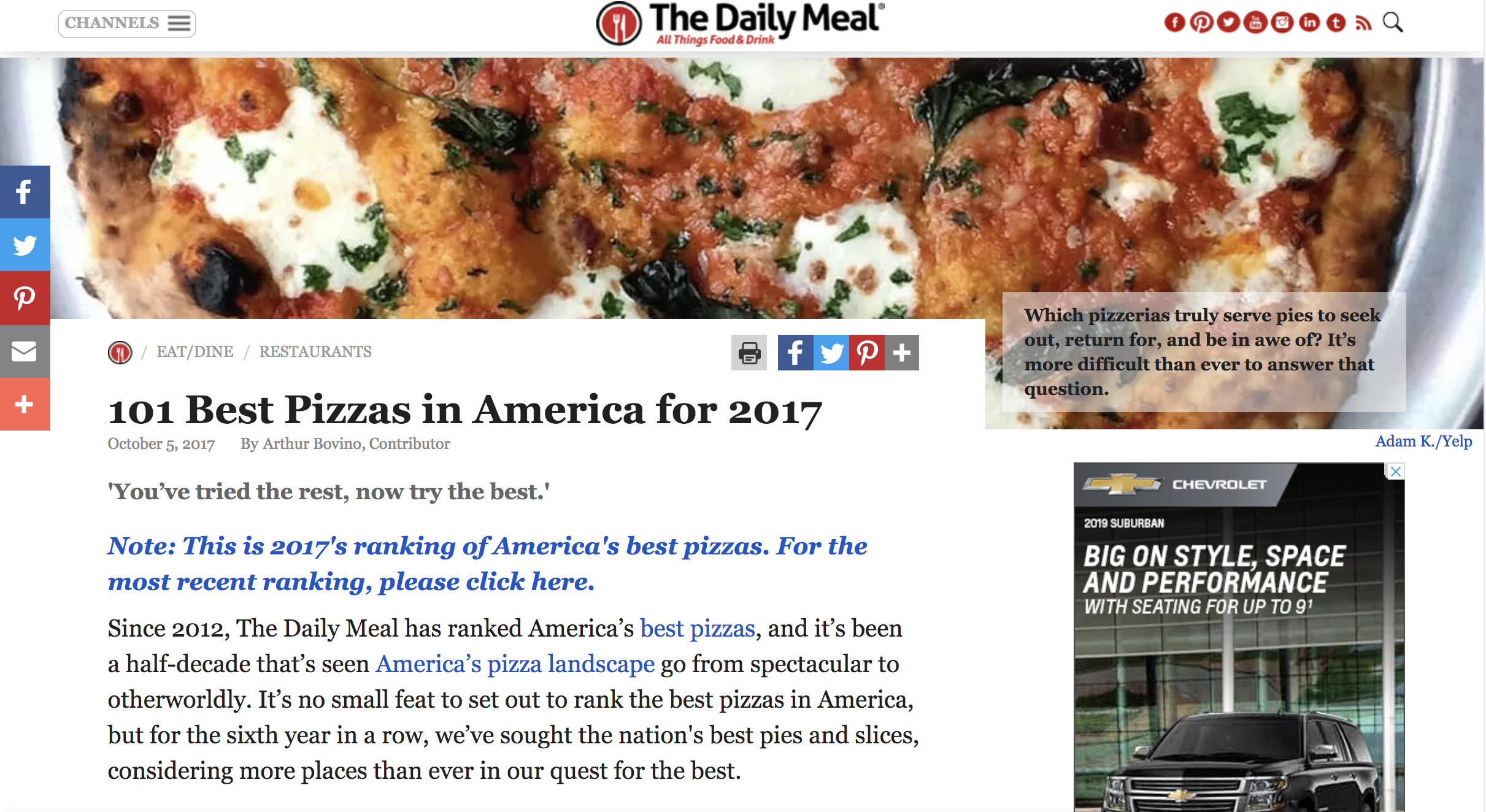 We've obsessively cast as wide a net as possible across the country to search for the best pizzas.