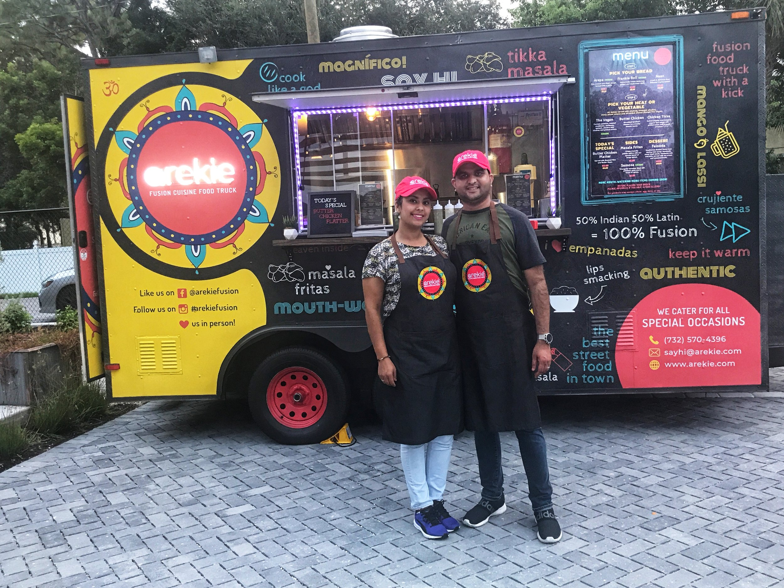 AREKIE - Latin/Indian Fusion Cuisine Food Truck operating in Southwest Florida. - Real Ingredients.Freshly Prepared.Every Day.