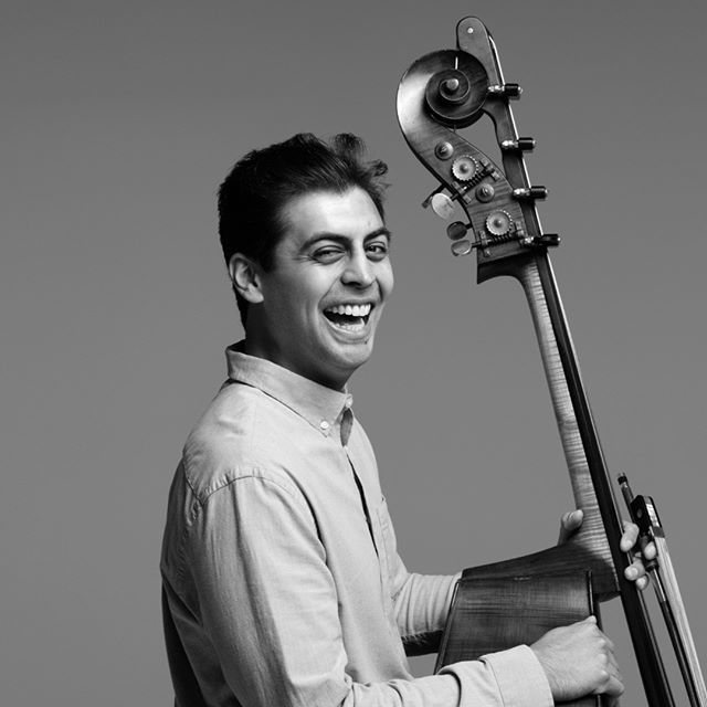 "We're excited to officially welcome Alex Goodin as our new bassist this season!  Alex has enjoyed a varied career as a solo, chamber, and orchestral musician, including engagements with Das Sinfonie Orchester Berlin and the Boston Philharmonic Orchestra. He is also the co-founder of Palaver Strings, a musician-led string chamber orchestra, and initiated new partnerships with service organizations including the Salvation Army ""Our Place"" Day Care Center for Homeless Children in Cambridge, MA. Learn more about Alex at www.alexgoodin.com.  Please join us in welcoming Alex to the 5HE squad, and in thanking Eric Snoza, our outgoing bassist, for the creative energy and talent he has shared on the stage and in the classroom.  PC: @karjaka  @solosalon  @alex_goodin @bostonphilharmonic @palaverstrings @salvationarmyus @ericsnoza . . . #nonprofits #nonprofit #chambermusicensemble #musicianofinstagram #classicalmusic #contemporarymusic #doublebassist #doublebassplayer #chicago #chicagoland #chicagomusic #fifthhouseensemble #5he"