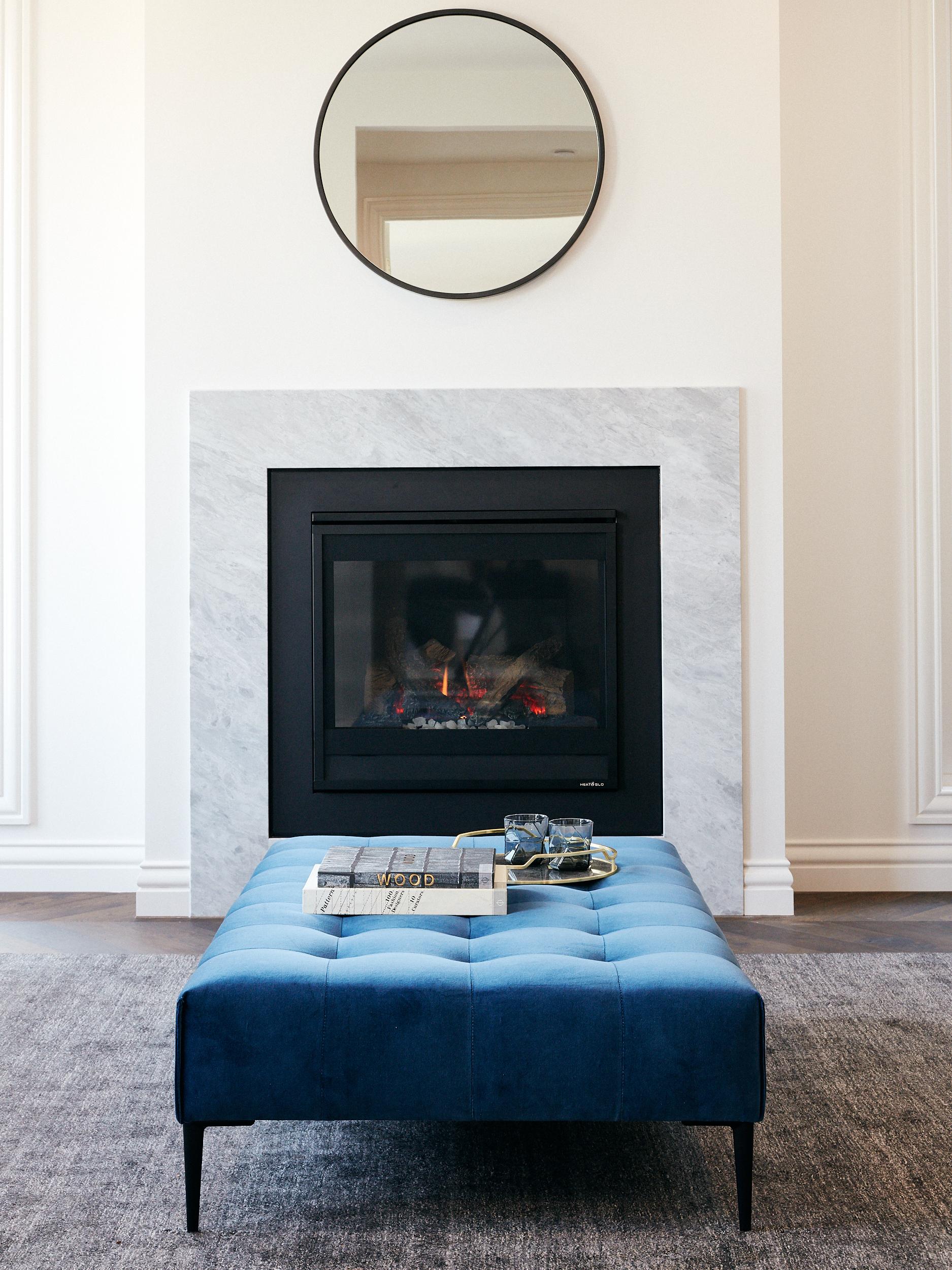 Arthur G Ottoman Formal Living Room Velvet