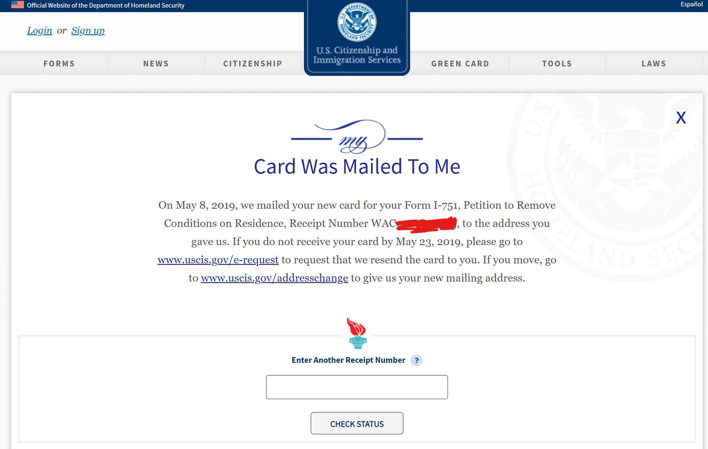 uscis case status approved 2020