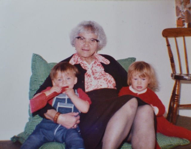 Dora in 1980 with me and my cousin..jpg