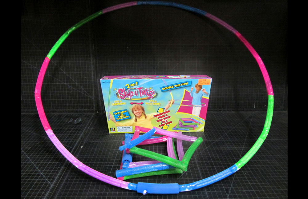 This awesome hula hoop and jump rope in one is available for license.