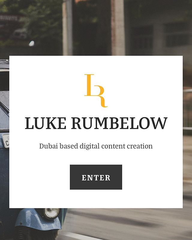 New Website is Live!  Go check it out  www.lukerumbelow.com
