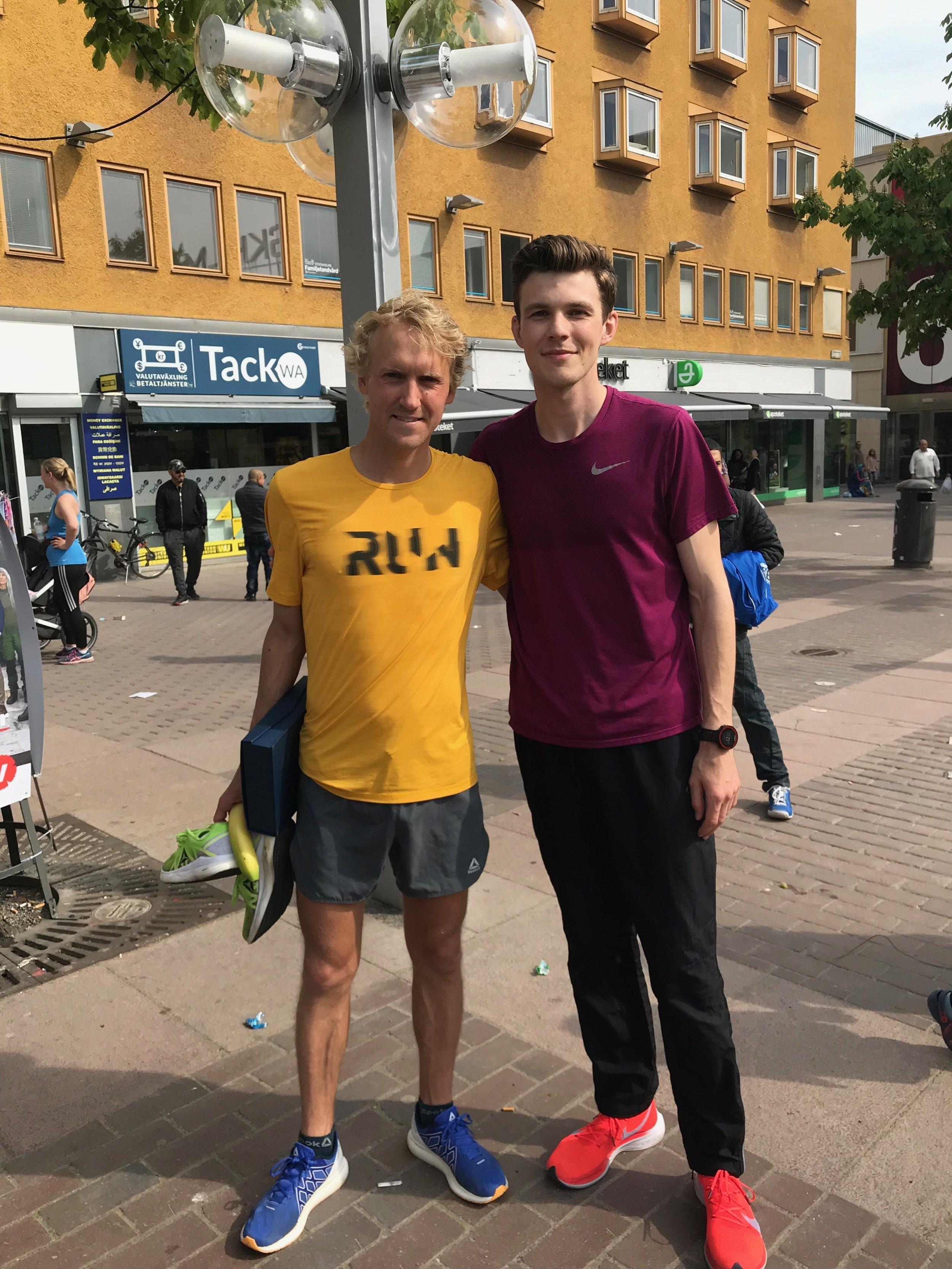 David Nilsson och Hofvets Simon Gudmundsson.
