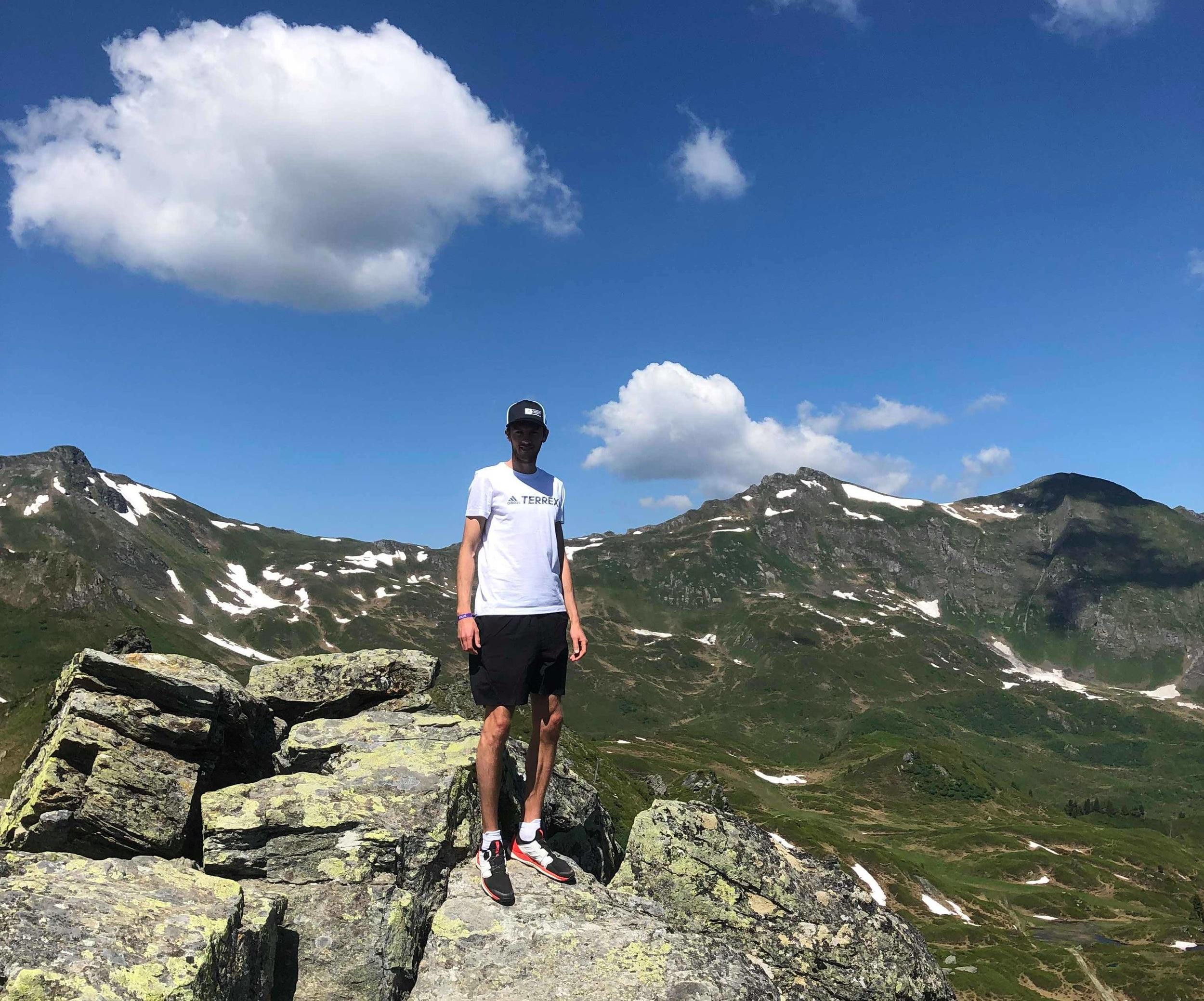Låset som bergsget i Alperna.