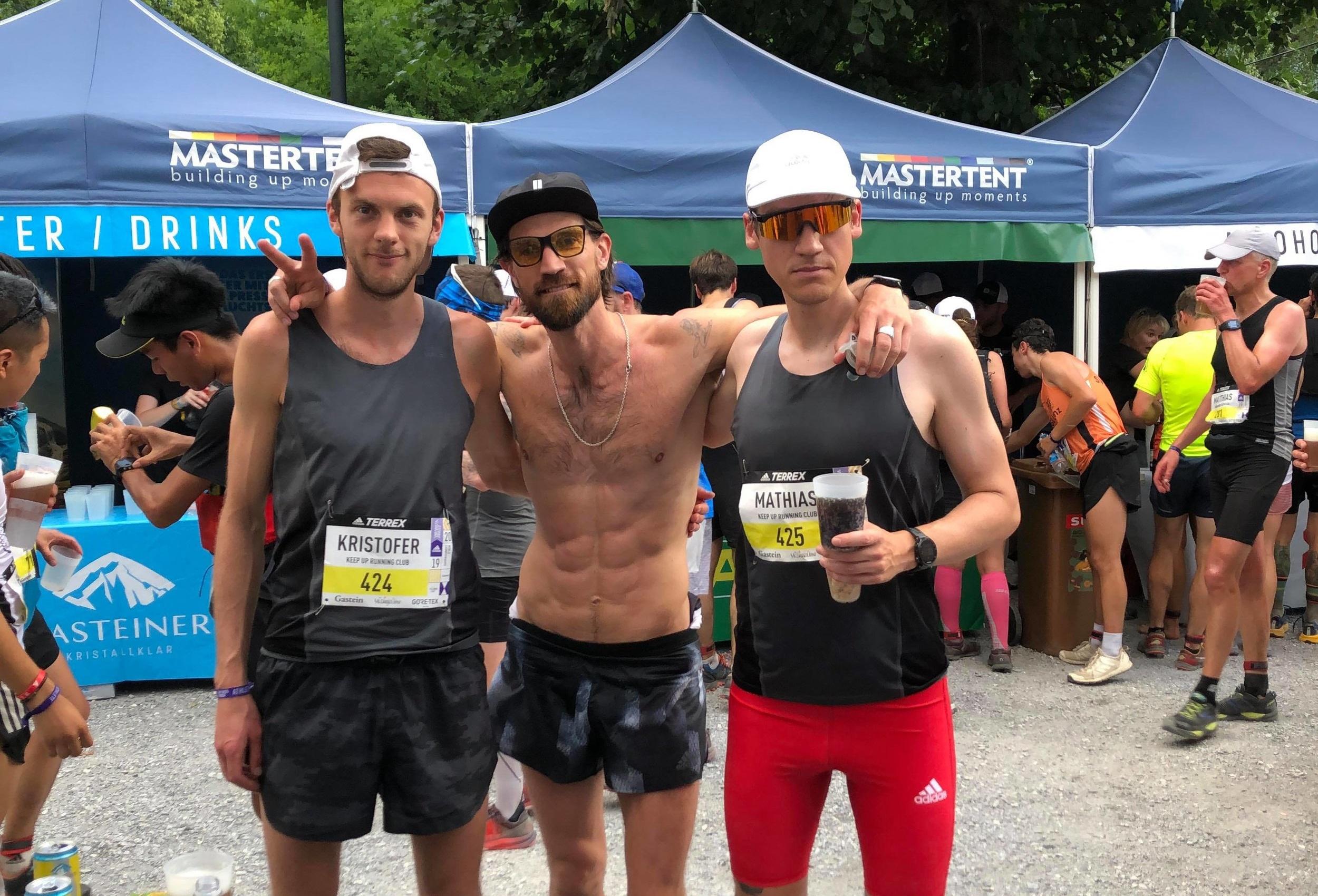 Hofvet-löparna Kristofer Låås, Henrik Fallenius och Mathias Ösmark är redo för utmaningen.