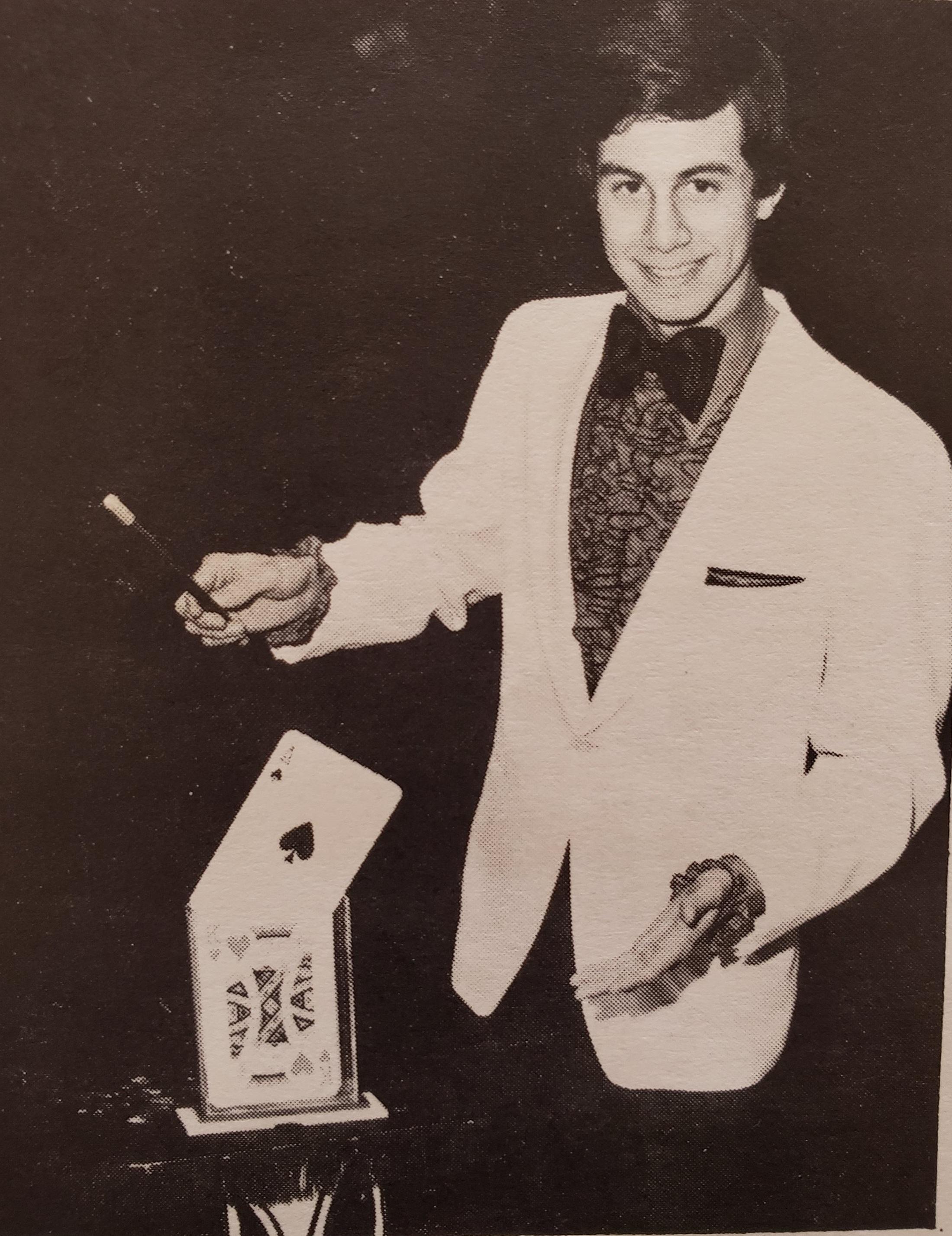 Mark Bonchek in Nicolet Magic Company brochure, 1981
