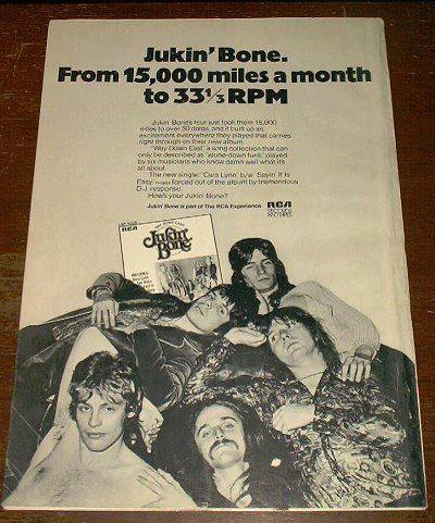 RCA ad promo - After the 'Whiskey Woman' album Tom left, after recording the 'Way Down East' album George left. Kevin Shwaryk and Danny Coward joined the band. This is a full page ad that RCA made promoting the last record. Danny would shortly leave the band and the 4 of us would soldier on until the bitter end in 1973.