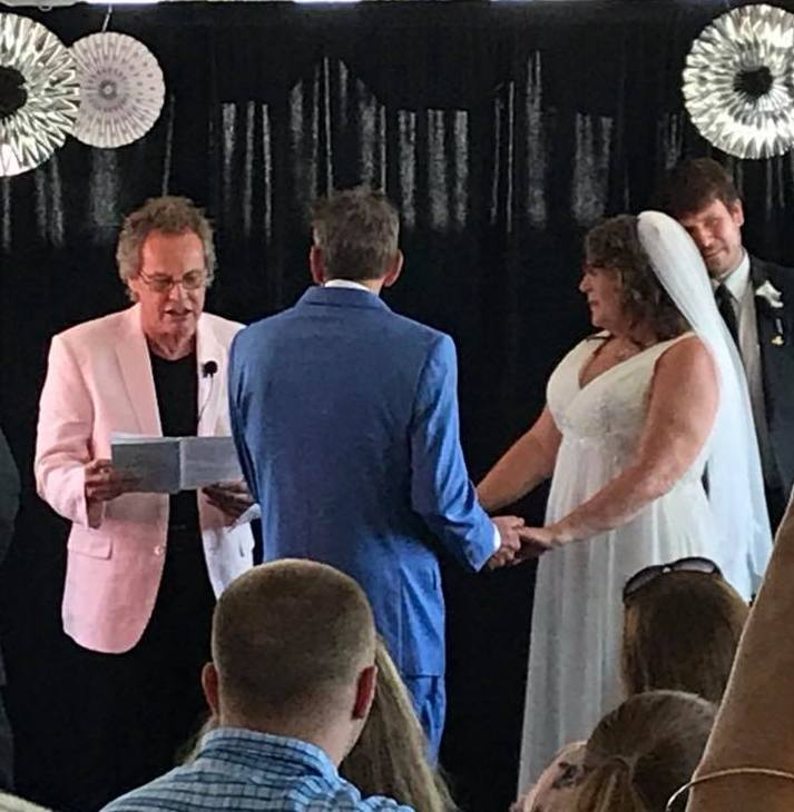 'I'm an ordained minister  in The Universal Life Church, here I am performing a wedding ceremony. So if your getting married or renewing your vows and want something different consider 'The Right Reverend, Joe Whiting !