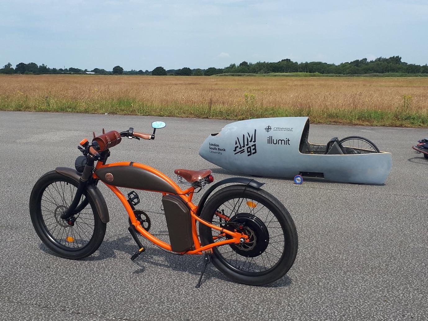 Rayvolt Premium E- Bike along side AIm93's Velociraptor