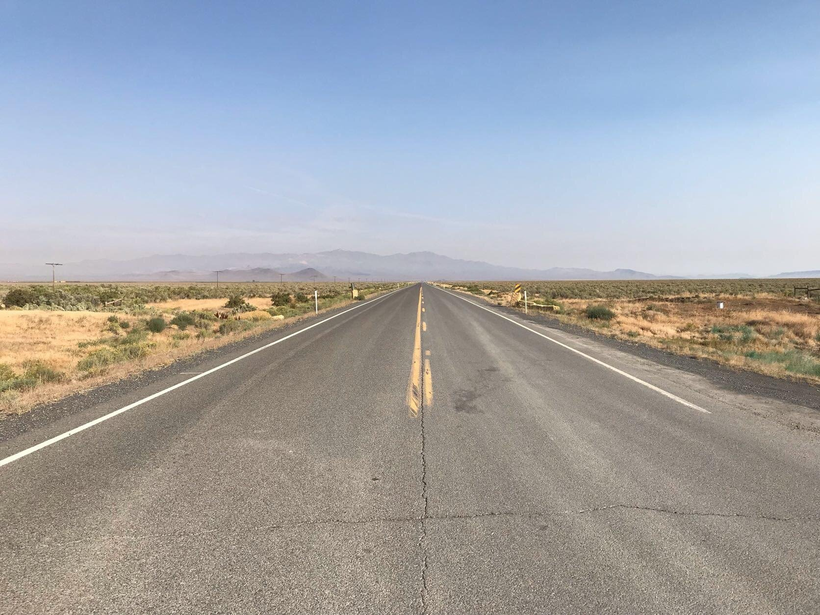 View of the road from the 5 mile start