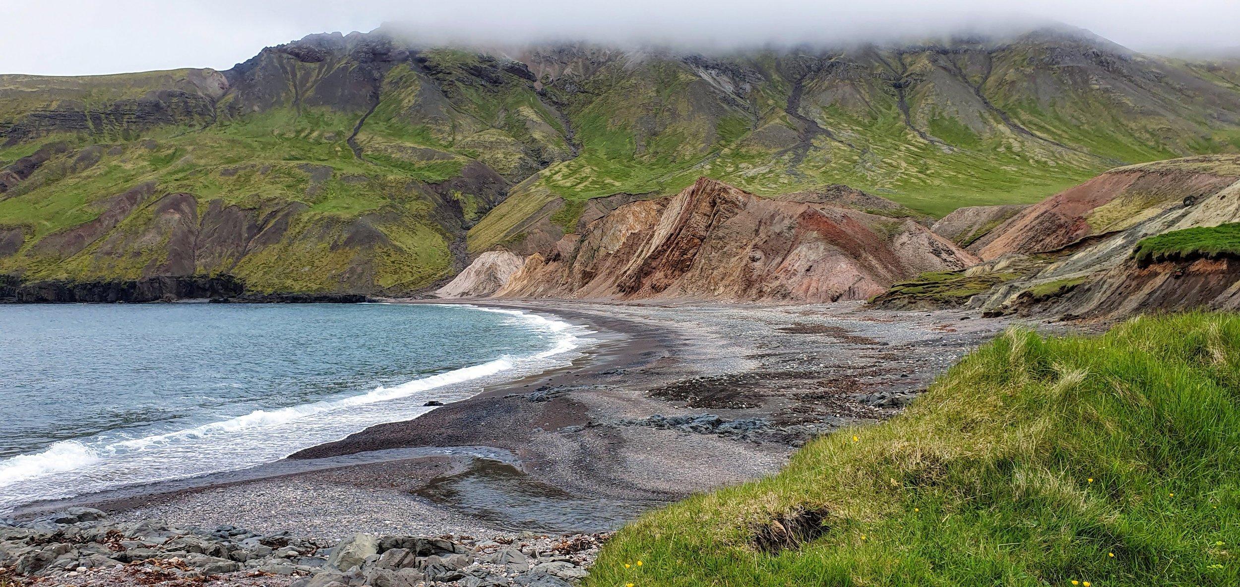 The beach of the deserted inlet Brúnavík.