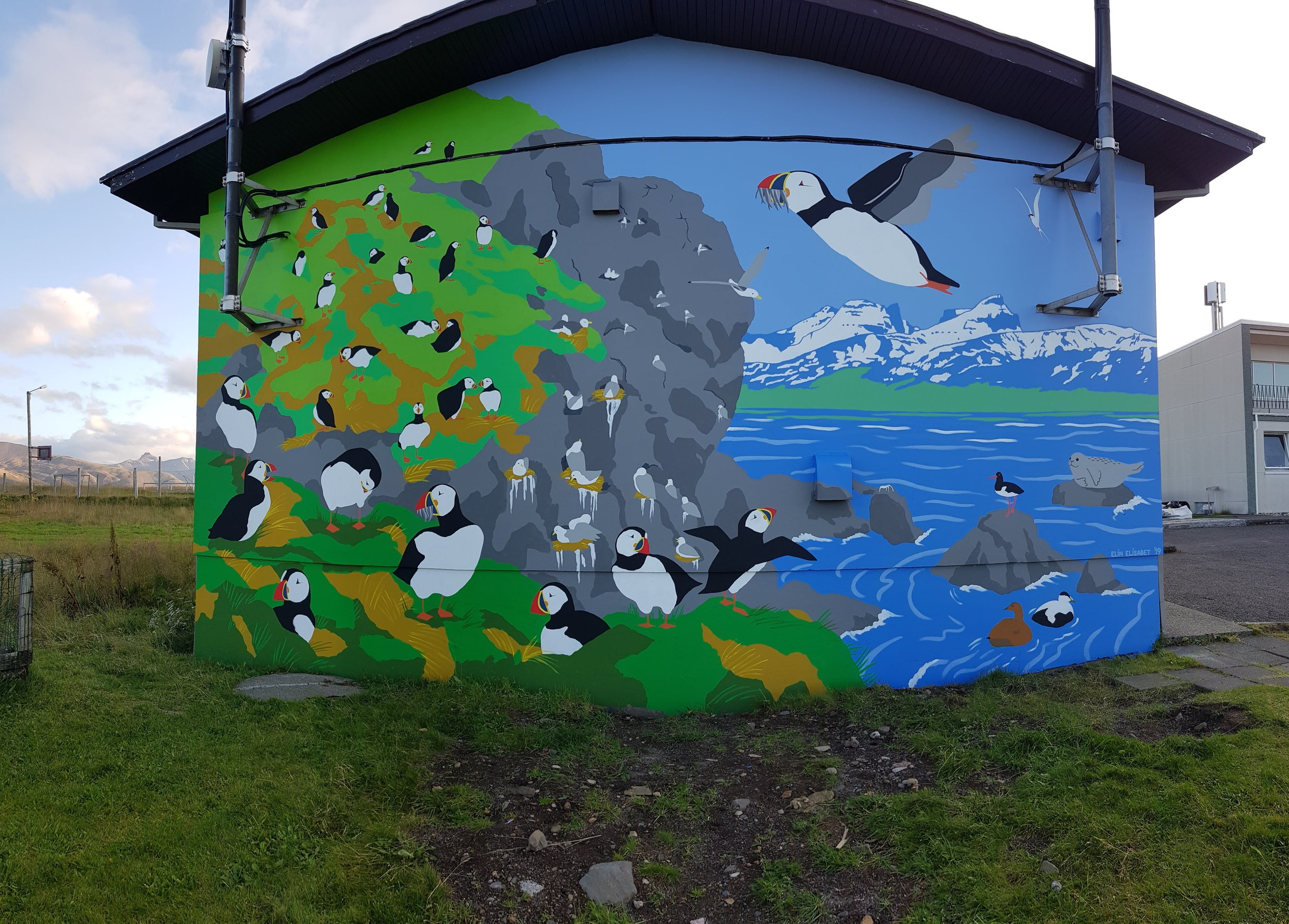 The Puffin Wall by Elín Elísabet