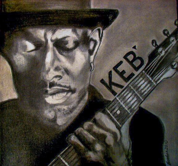 """KEB' MO"" - GRAPHITE AND CHARCOAL ON CANVASSOLD"