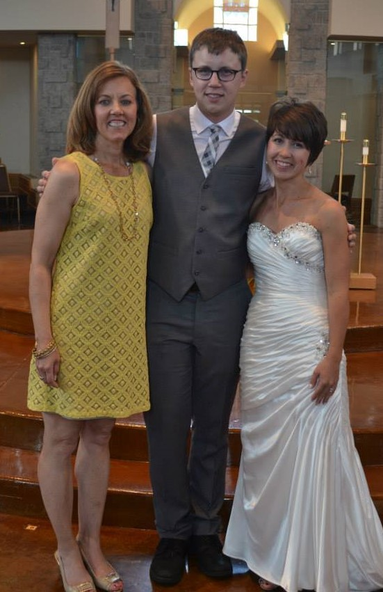 This was taken 4 months after the destination wedding. Myself along with my nephew and his wife, Tyler & Katie Oestreich
