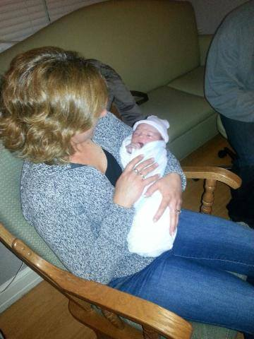 This was the night Mila was born. I got to hold my newly born granddaughter!
