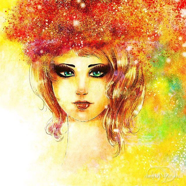 """ESSENCE"" . . ✨A quick portrait done some time ago.  Let me know what you think 🥰✨ . . . http://danydiniz.com . . . #danydiniz #danydinizart #digitalart #fashion #conceptart #colorfulart #art #artistsoninstagram #illustration #artportrait #femaleportrait #artoftheday #onlyartworks #naturearts"
