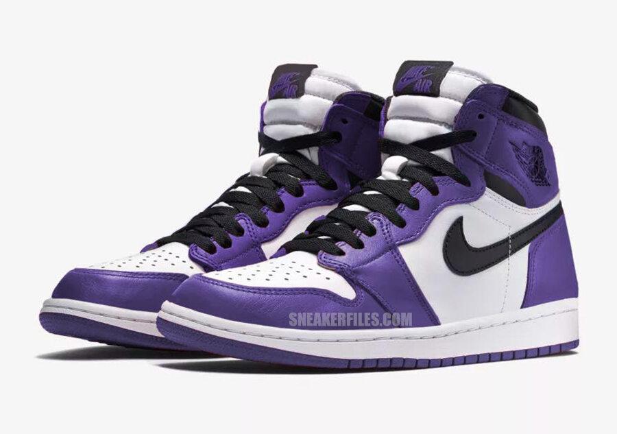 air jordan 1 court purple resell