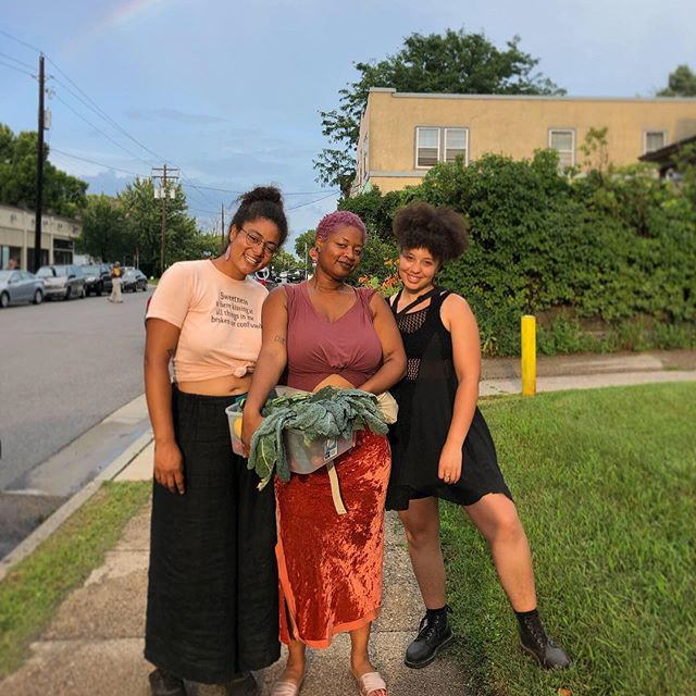 TBT! When a rainbow hung over our heads and @tamalesybicis_farm  rolled up on bikes to our Northside plot to laugh, eat and learn.