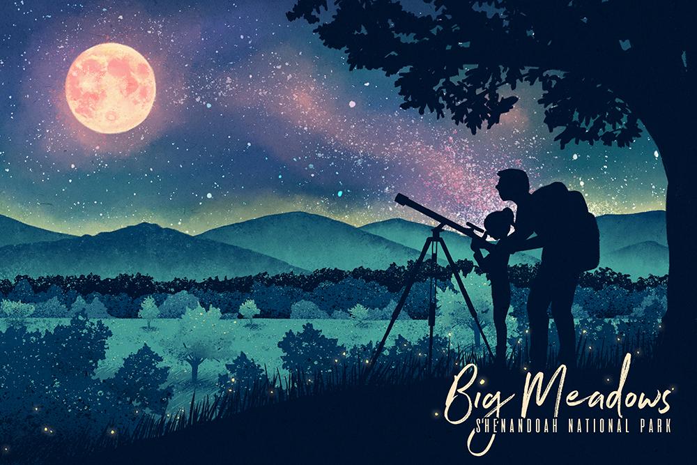 Customized illustration for Shenandoah National Park