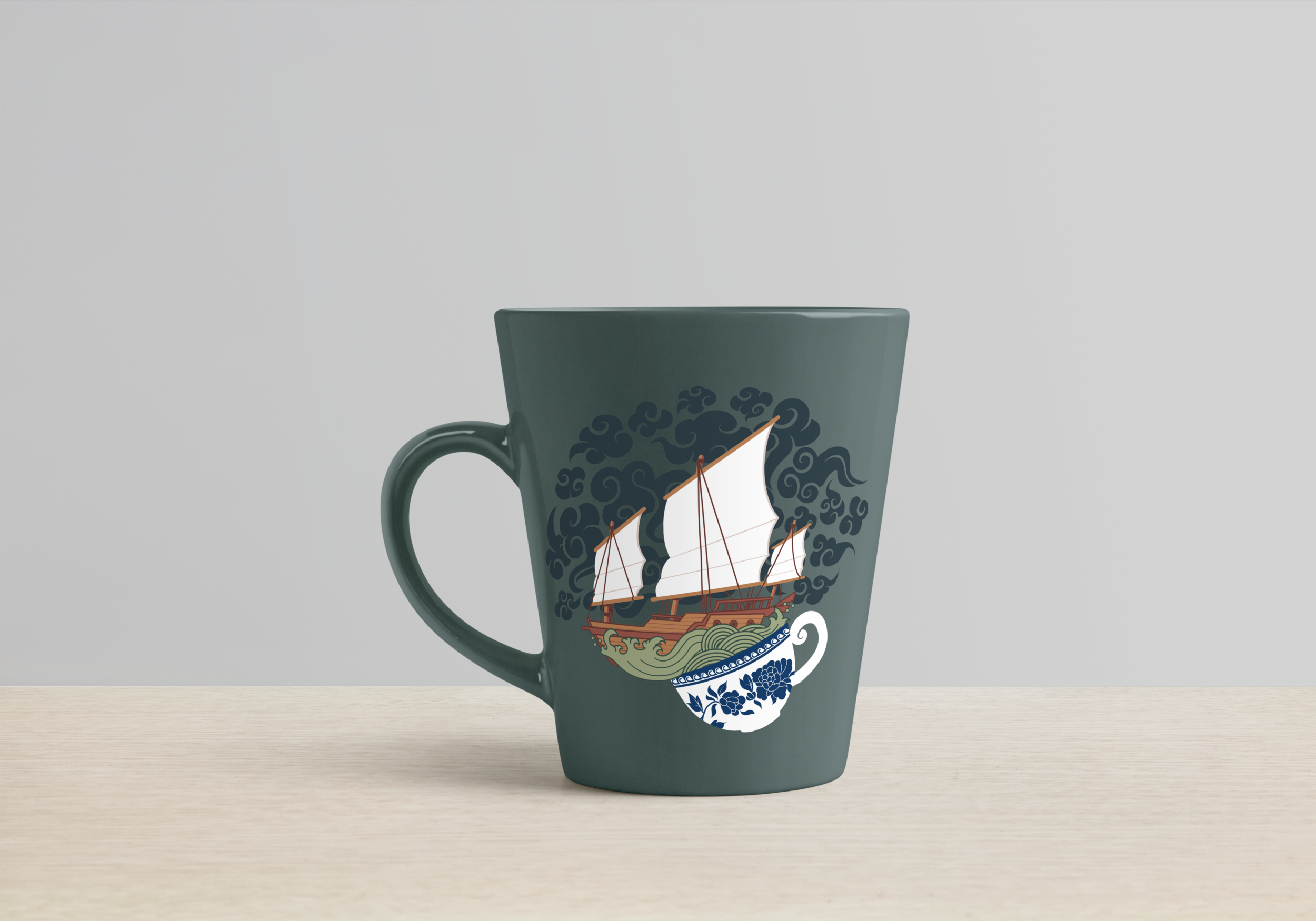 Teacup Mug Mockup