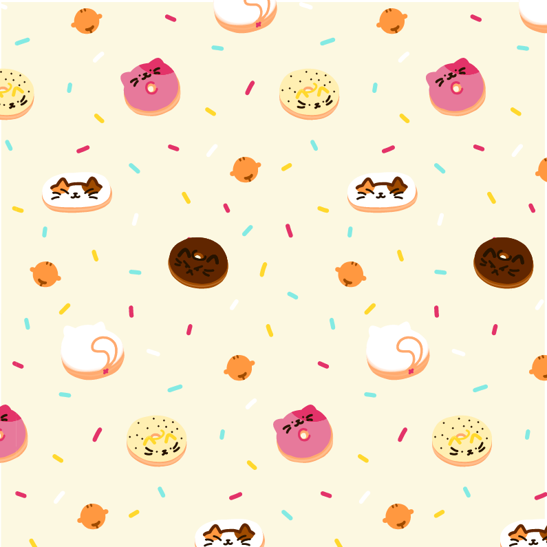 Doughnut Cats Pattern
