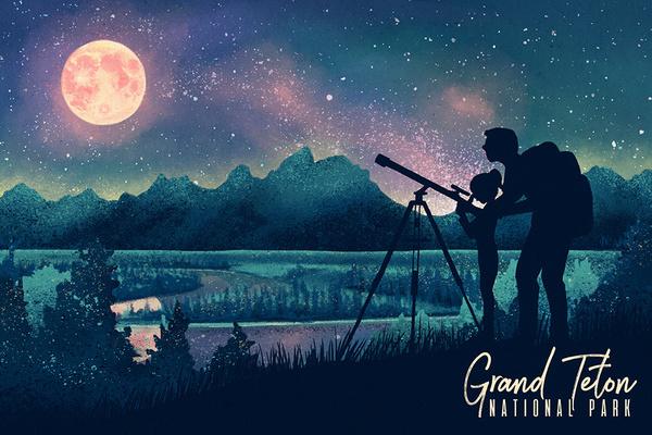 Customized illustration for  Grand Teton National Park