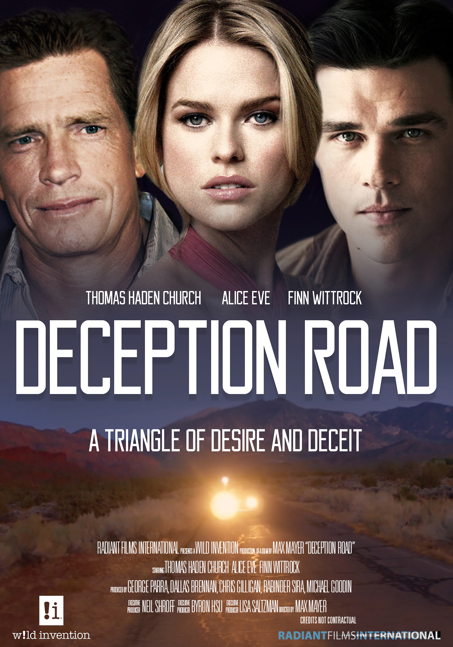 Deception Road Movie Poster with Thomas Haden Church, Alice Eve, and Finn Wittrock