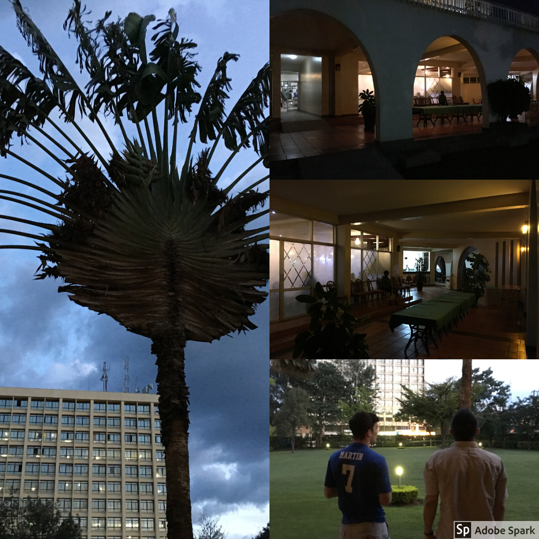 In order to avoid driving at night in Kenya, we ended up spending the night in Eldoret at a beautiful hotel. About half of our group stayed behind during the evening, while the others in the group went into the city.