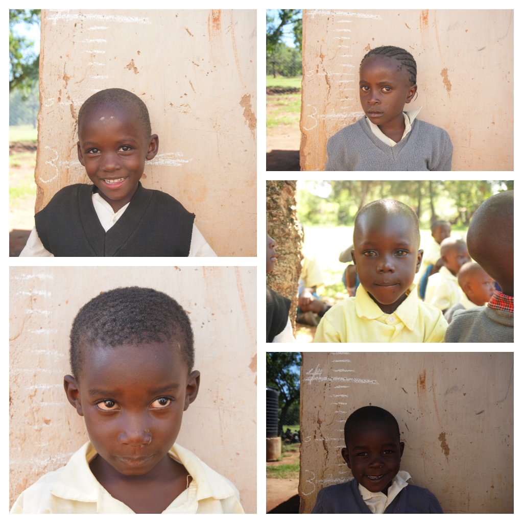 After their exams, students took individual pictures with Brooke and Hunter. These pictures also allowed us to compare their average heights with the average heights of students from Kenya.