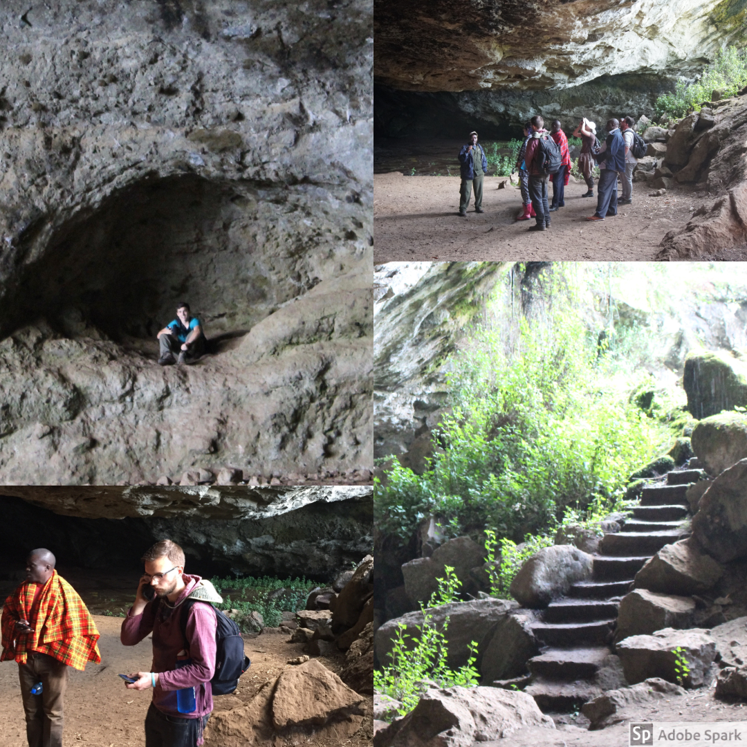 The inside of the cave was very large. Once a year, elephants during a migration will come to the cave to lick the salt off the walls. There were many enclaves as well as a pond