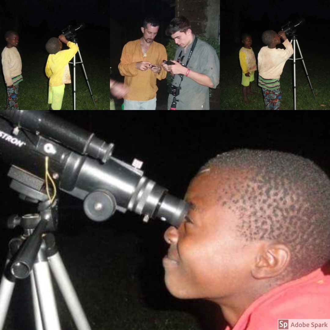 A night under the stars--The OWC team brought along with them a telescope to stargaze. All members of the community were welcome to join.