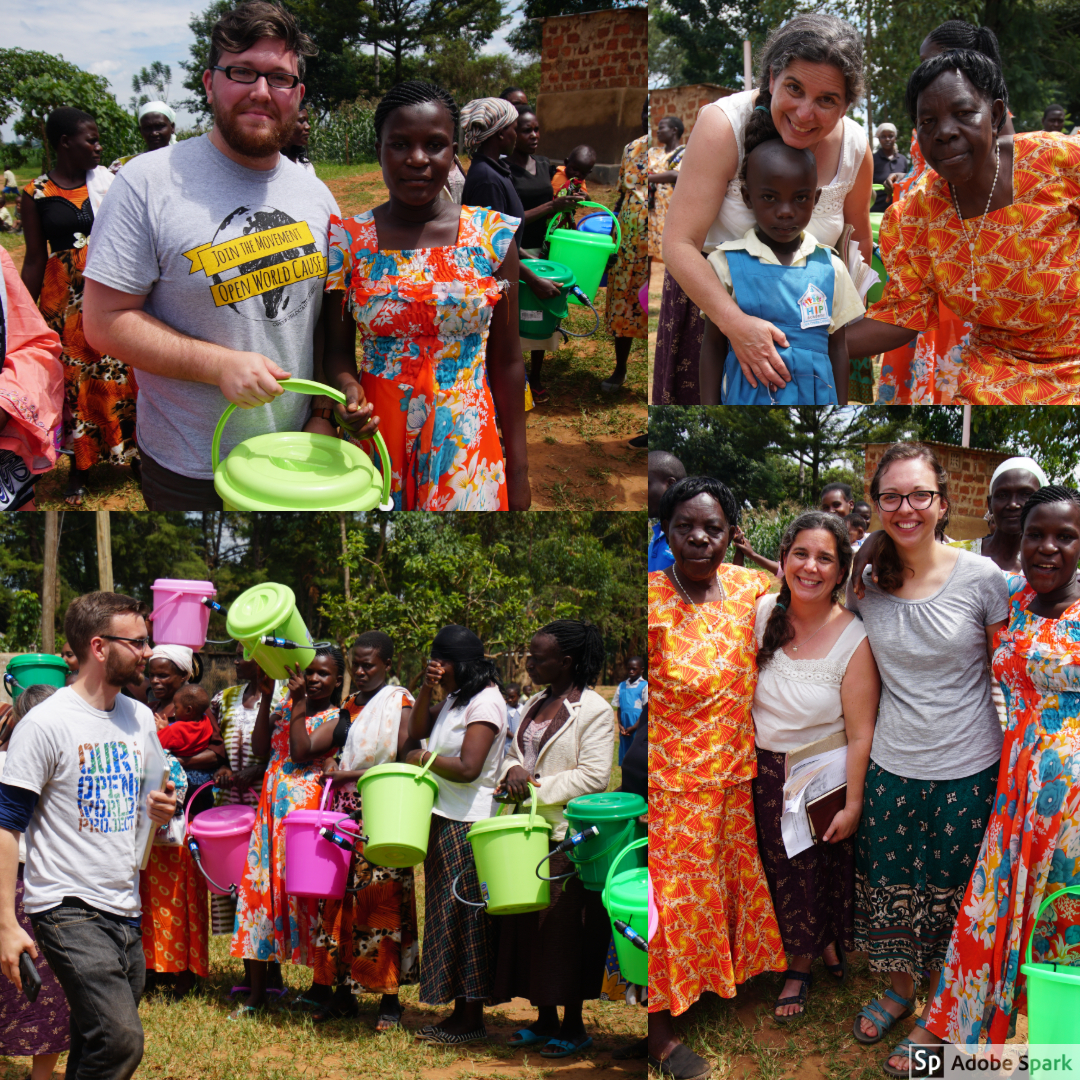 On Monday we distributed Sawyer PointOne bucket water filters to the parents at HIPAfrica. Many mothers from HIP have to draw water from a river for their families. After Connor and Fredrick's (HIP's administrator) presentation on the clean water filters - seeing the joyful reactions from the parents was an indescribable experience.