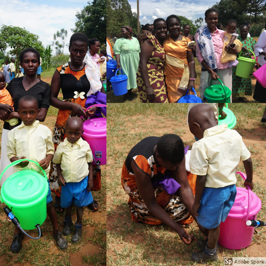 Every family of the students at HIP received a water filter.