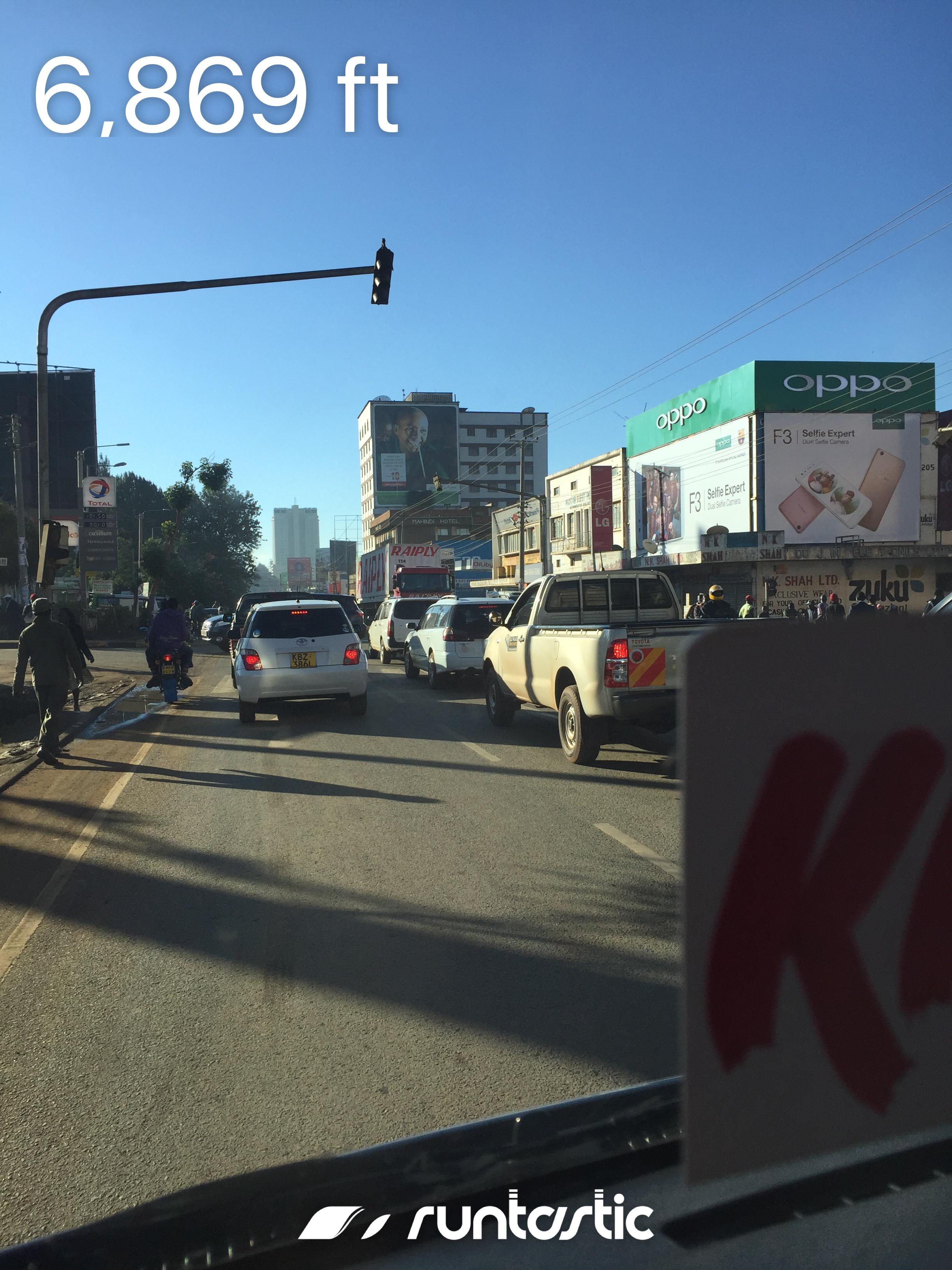 Nairobi traffic.