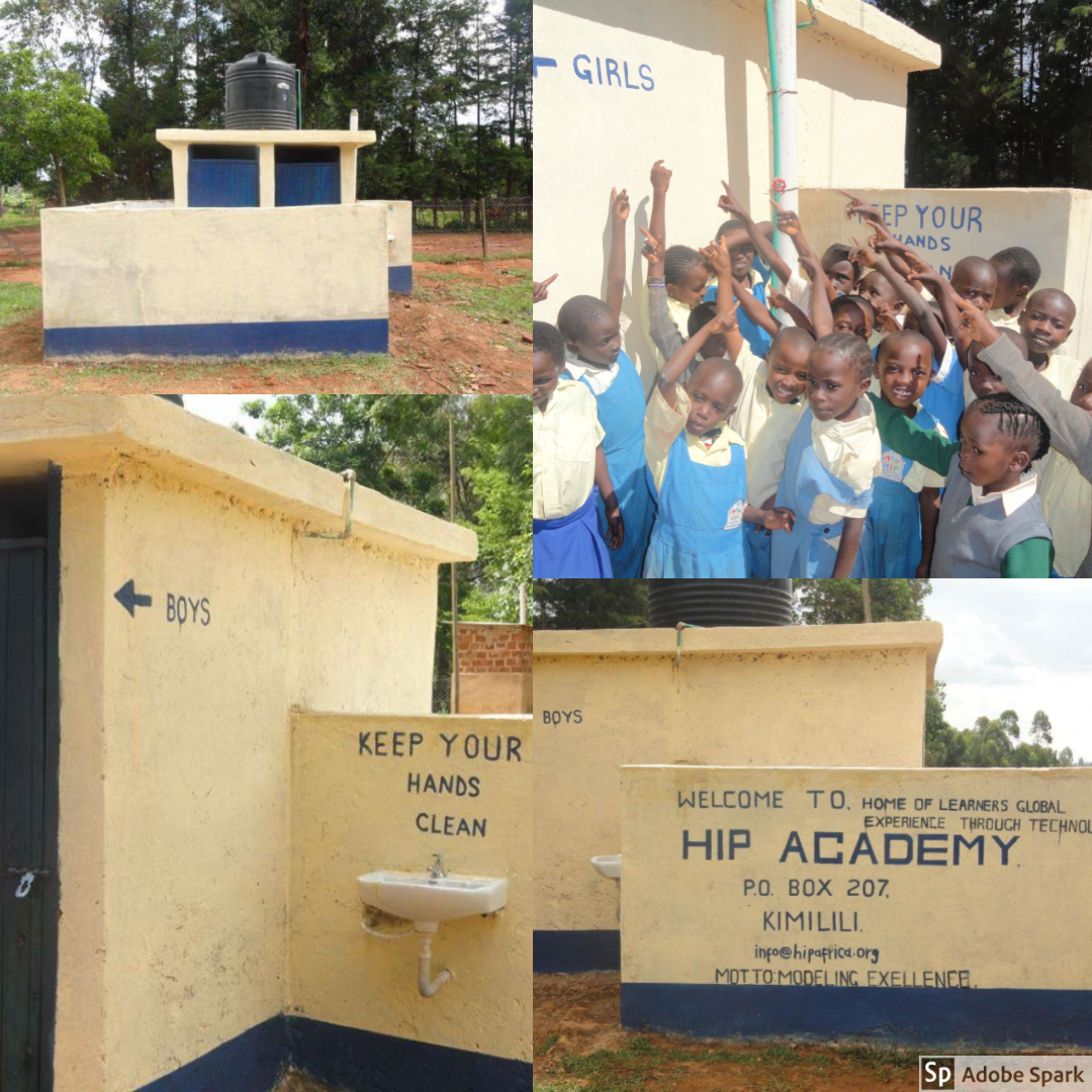 After the OWC team left HIP, funds were raised thanks to the hard work of classrooms around the world for a new latrine. The latrine is even fitted with a hand washing station!