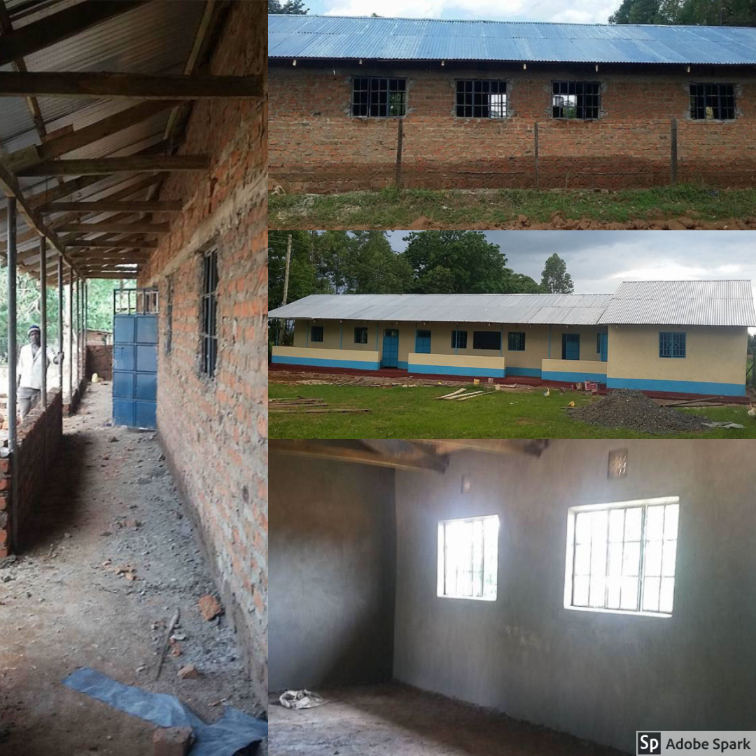 HIP's new buildings. After the successful completion of the latrine, the next task was building a new building for the school to meet Kenyan code. We are proud and happy to say that construction was complete on their beautiful new buildings! Again, whats amazing is how integral students across the world were in the completion of this structure.