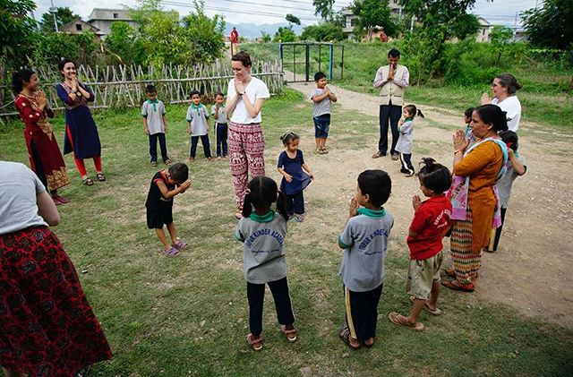 Playing and exercise is important for all students around the world. Often we don't give students enough play- Open World is here to fix that! After class let out at 3:30 each day we brought the team out to play with the kids. Educators- remember these little bodies need to get their wiggles out! What is your favorite game to play? 🧘‍♀️🤸‍♀️ #hokeypokey #kidyoga