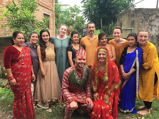 Ben and Natalie were married last fall, but our Nepali family wanted to give them a traditional Nepali wedding while we were here! Here's a sneak peek- What a production❤️ #dancing #tika #nepaliwedding #marriage