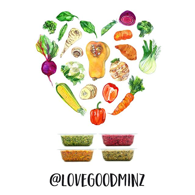 Hi folks, we ❤️ veggies and veggies ❤️ GOODMINZ, so we've stirred up our website and social profiles all with the handle @lovegoodminz. And, here's a love heart of the veggies in our 🌈 of GOODMINZs to wish you all a fab weekend 🌱🙏😍🌱