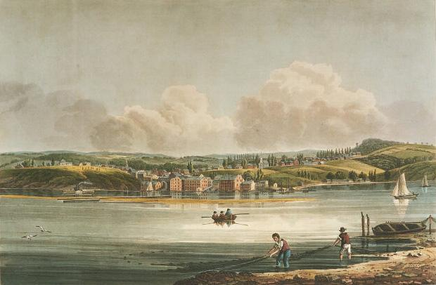 View of Hudson from Athens  Date Unknown
