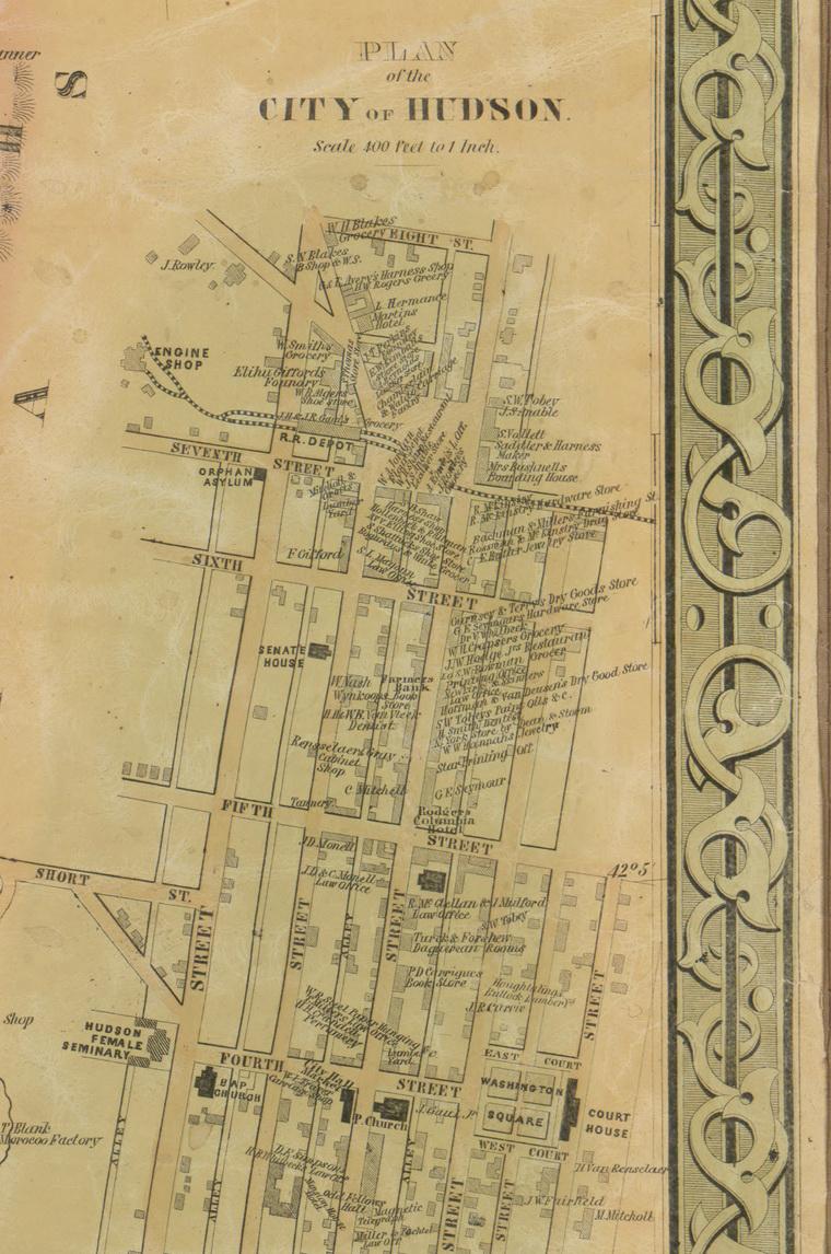 City of Hudson, New York Map 1851